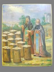 «Святые Зосима и Савватий Соловецкие благословляющие пасеку»